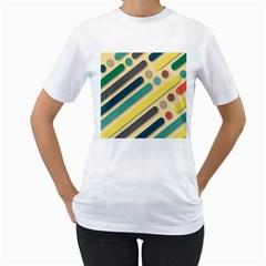 Background Vintage Desktop Color Women s T Shirt (white)