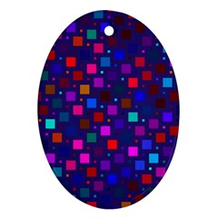 Squares Square Background Abstract Ornament (oval)