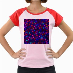 Squares Square Background Abstract Women s Cap Sleeve T Shirt