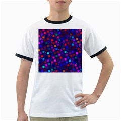 Squares Square Background Abstract Ringer T Shirts