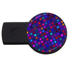 Squares Square Background Abstract Usb Flash Drive Round (4 Gb)