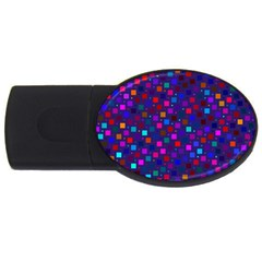Squares Square Background Abstract Usb Flash Drive Oval (4 Gb)
