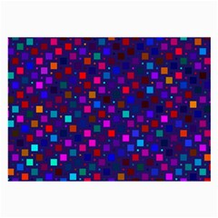 Squares Square Background Abstract Large Glasses Cloth (2 Side)
