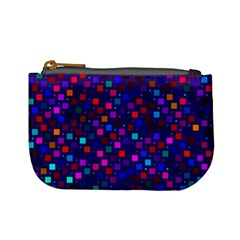 Squares Square Background Abstract Mini Coin Purses