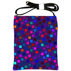 Squares Square Background Abstract Shoulder Sling Bags