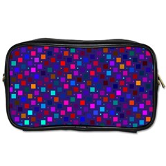 Squares Square Background Abstract Toiletries Bags 2 Side