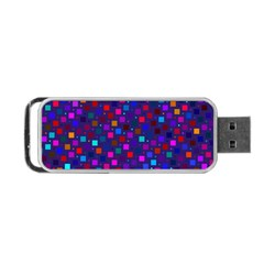 Squares Square Background Abstract Portable Usb Flash (two Sides)