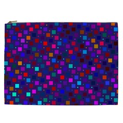 Squares Square Background Abstract Cosmetic Bag (xxl)