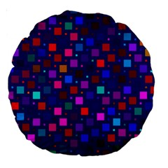 Squares Square Background Abstract Large 18  Premium Round Cushions