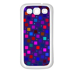 Squares Square Background Abstract Samsung Galaxy S3 Back Case (white)