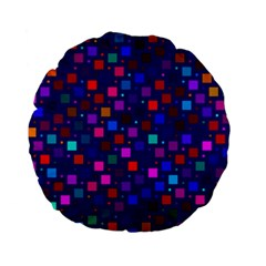 Squares Square Background Abstract Standard 15  Premium Flano Round Cushions