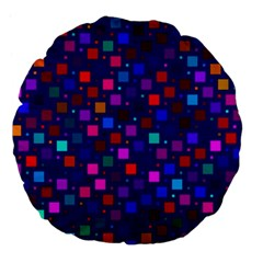 Squares Square Background Abstract Large 18  Premium Flano Round Cushions