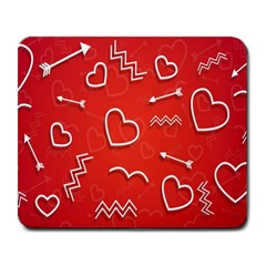 Background Valentine S Day Love Large Mousepads