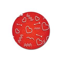 Background Valentine S Day Love Magnet 3  (round)
