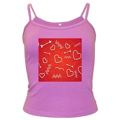 Background Valentine S Day Love Dark Spaghetti Tank