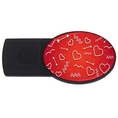 Background Valentine S Day Love Usb Flash Drive Oval (4 Gb)