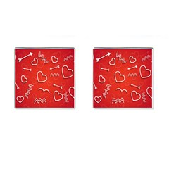 Background Valentine S Day Love Cufflinks (square)