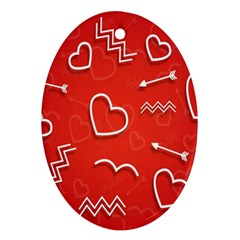 Background Valentine S Day Love Oval Ornament (two Sides)