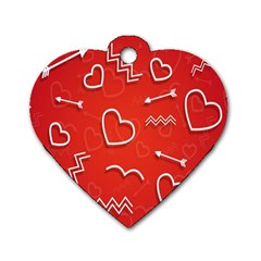 Background Valentine S Day Love Dog Tag Heart (one Side)