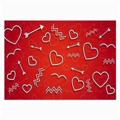 Background Valentine S Day Love Large Glasses Cloth