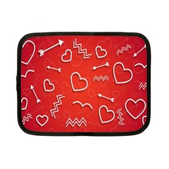 Background Valentine S Day Love Netbook Case (small)