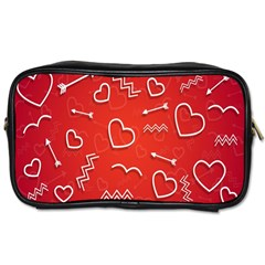 Background Valentine S Day Love Toiletries Bags 2 Side