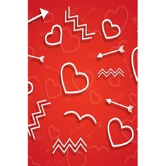 Background Valentine S Day Love 5 5  X 8 5  Notebooks