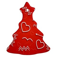 Background Valentine S Day Love Ornament (christmas Tree)