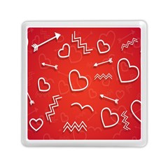 Background Valentine S Day Love Memory Card Reader (square)