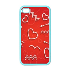 Background Valentine S Day Love Apple Iphone 4 Case (color)