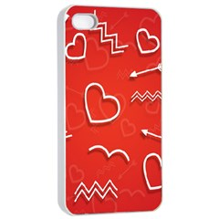 Background Valentine S Day Love Apple Iphone 4/4s Seamless Case (white)