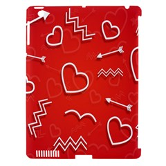 Background Valentine S Day Love Apple Ipad 3/4 Hardshell Case (compatible With Smart Cover)
