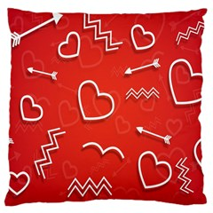 Background Valentine S Day Love Large Cushion Case (one Side)