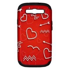 Background Valentine S Day Love Samsung Galaxy S Iii Hardshell Case (pc+silicone)