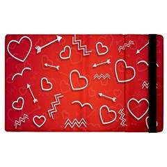 Background Valentine S Day Love Apple Ipad 3/4 Flip Case