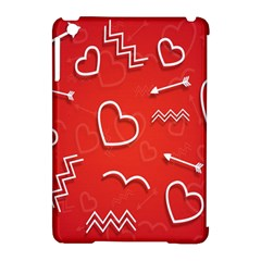 Background Valentine S Day Love Apple Ipad Mini Hardshell Case (compatible With Smart Cover)