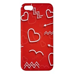 Background Valentine S Day Love Apple Iphone 5 Premium Hardshell Case