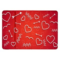 Background Valentine S Day Love Samsung Galaxy Tab 8 9  P7300 Flip Case