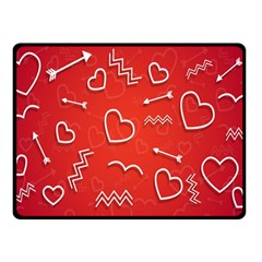 Background Valentine S Day Love Double Sided Fleece Blanket (small)