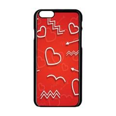 Background Valentine S Day Love Apple Iphone 6/6s Black Enamel Case