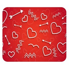 Background Valentine S Day Love Double Sided Flano Blanket (small)