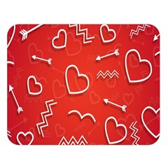 Background Valentine S Day Love Double Sided Flano Blanket (large)