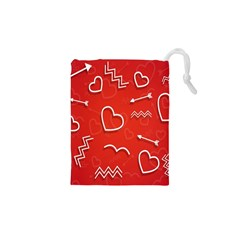 Background Valentine S Day Love Drawstring Pouches (xs)