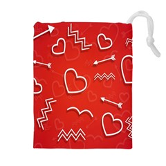 Background Valentine S Day Love Drawstring Pouches (extra Large)