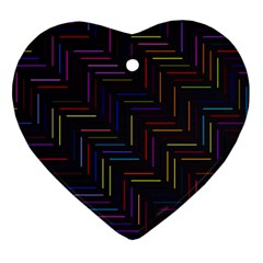 Lines Line Background Ornament (heart) by Nexatart