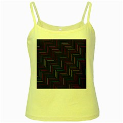 Lines Line Background Yellow Spaghetti Tank