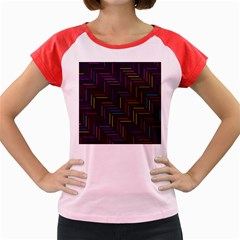 Lines Line Background Women s Cap Sleeve T Shirt