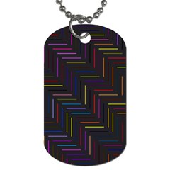 Lines Line Background Dog Tag (one Side)