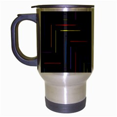 Lines Line Background Travel Mug (silver Gray)