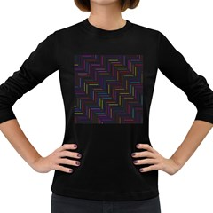 Lines Line Background Women s Long Sleeve Dark T Shirts